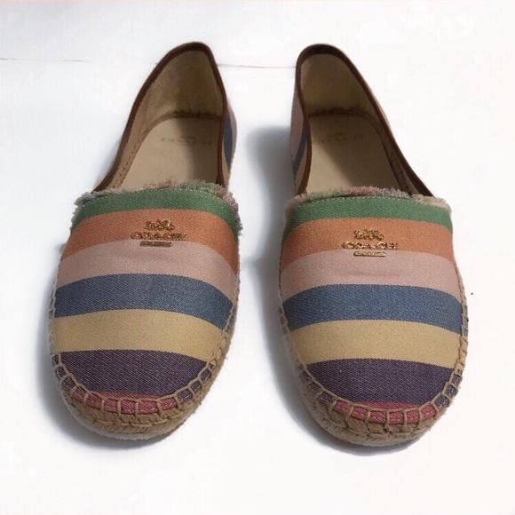a4cc24295 Coach Shoes | Joanie Rainbow Espadrilles | Poshmark